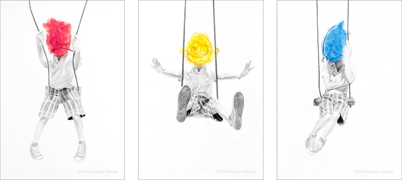 "Artist JeanPaul Mallozzi donates ""Moodswing: Mad, Glad, Sad"" triptych to Reading Queer"