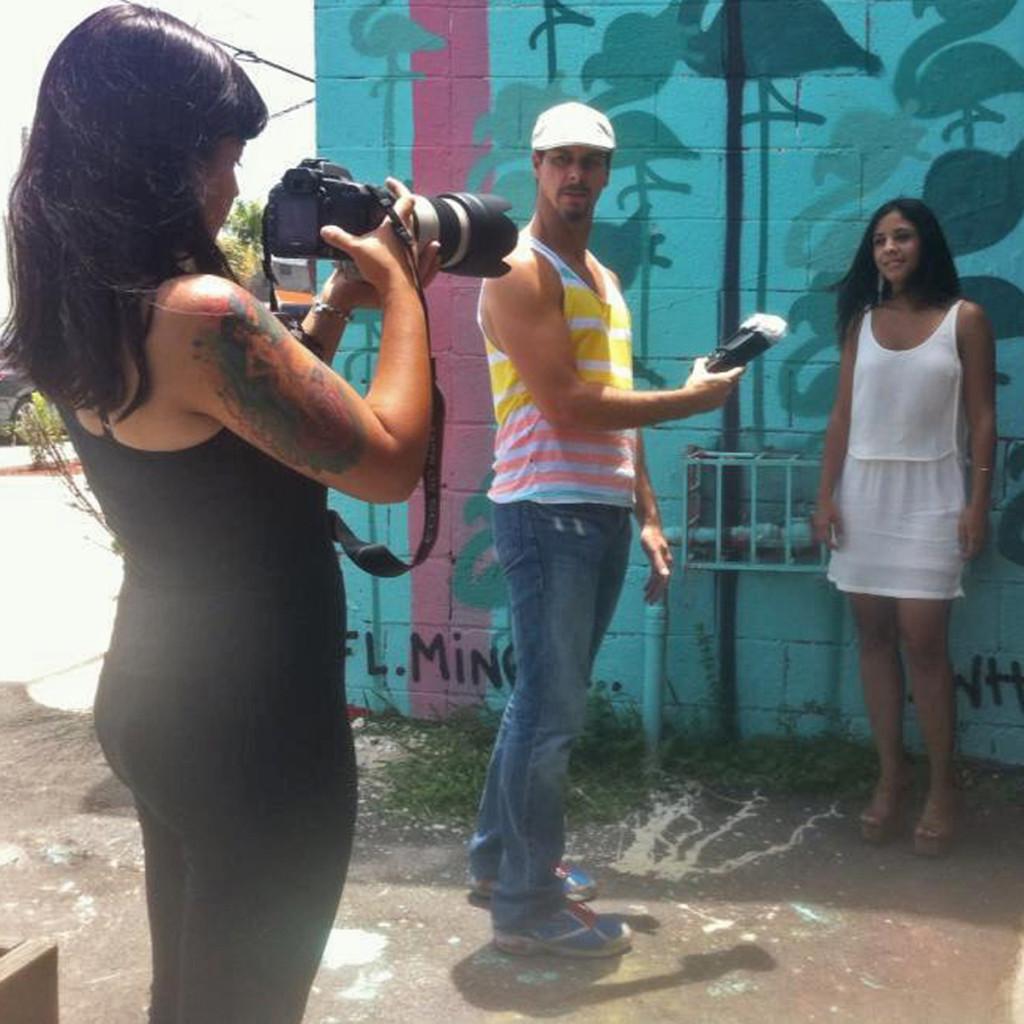 Laura Paez, Neil de la Flor & Amira Hadla Chomiak @ Panther Coffee.