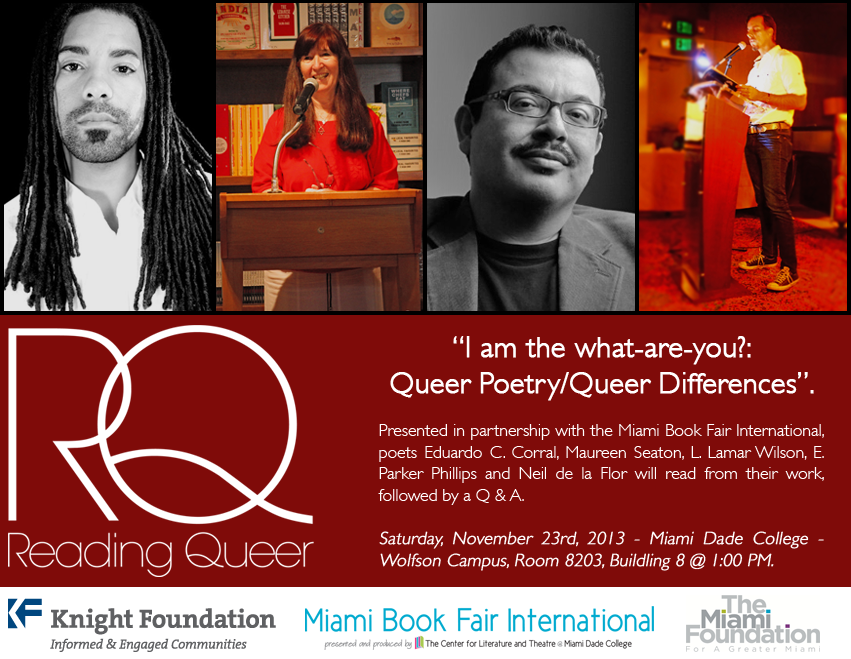 Reading Queer announces first offical event in partnership with The Miami Book Fair International
