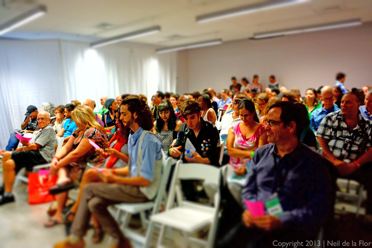Audience settles down for Reading Queer poets @ the 2013 Miami Book Fair International.